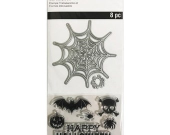 Halloween -  Die and Stamp set    -  NEW  (#3887)