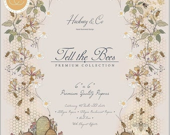 6 x 6 Paper Pad ~ Tell the Bees ~ Double sided  - NEW (#3500)