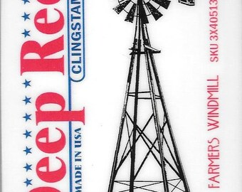 Deep Red Cling Stamps --  Farmers Windmill -- NEW -- (#2813)