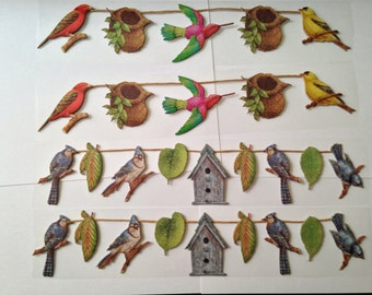 TC Foliage Garland Adhesive Borders -- NEW -- 4 pieces (#2074)  Birds