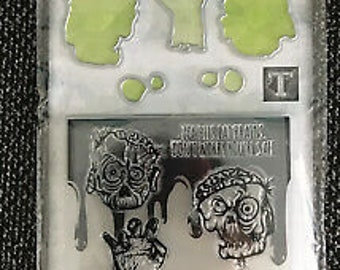Halloween -  Die, stamp and Embossing Folder set    -  NEW  (#3891)