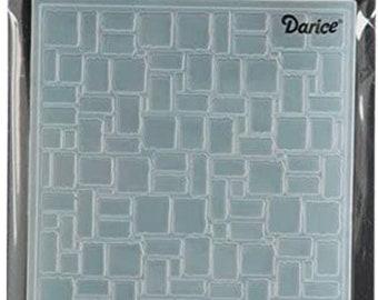 Darice Embossing Folder  --  New  --  Brick Wall  --  (#3914)
