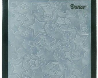 Darice Embossing Folder  --  New  --  Stars Assorted  --  (#3913)