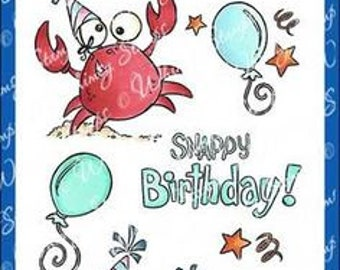 Whimsy Stamps --  Snappy Birthday    -- NEW  -- (#3614)