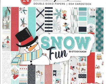 6 x 6 Paper Pad ~ Snow Fun ~ Double sided  NEW  (#2768)