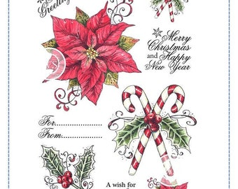 Whimsy Stamps --  Vintage Christmas Set-- NEW -- (#2862)
