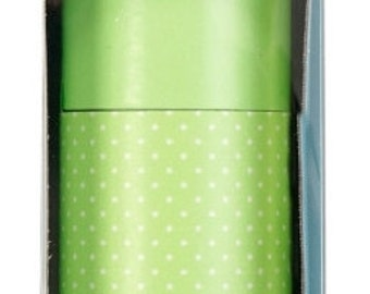 Martha Stewart Double Sided Craft Paper Roll  ~~  Light Green Dots  ~~   Double sided paper  ~~  NEW  (#1257)