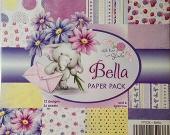6 x 6 Paper Pad ~~ Bella Paper Pack ~~ Wild Rose Studio Brand ~~ NEW (#3094)