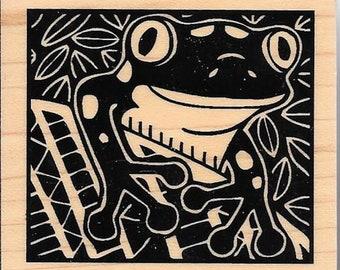 Frog Stamp --  Inkadinkado  -- NEW -- (#2800)
