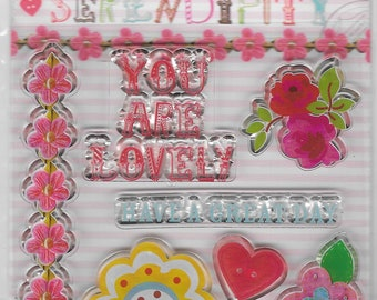 Dovecraft Cling Stamps -- Serendipity  -- NEW -- (#2717)