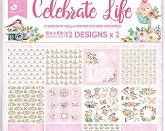 6 x 6 Paper Pad ~ Celebrate Life ~ Double sided ~ NEW (#3748)