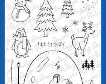 Whimsy Stamps --   Glitter Globe   -- NEW -- (#4019)
