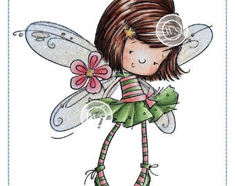 Whimsy Stamps -- Flower Fairy -- NEW  -- (#2654)