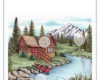 Whimsy Stamps -- Mountain Serenity  -- NEW  -- (#3185)