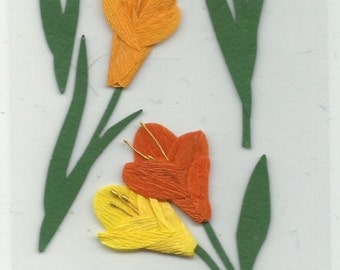 Martha Stewart Crafts  -- Tulip Stickers -- NEW -- self adhesive dimensional stickers  (#635)