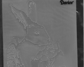 Darice Embossing Folder  --  New  --  Easter Bunny  --  (#1601)