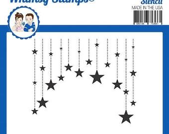 Whimsy Stamps Designer Stencil -- New --   Star Dangle Stencil   -- (#4023)