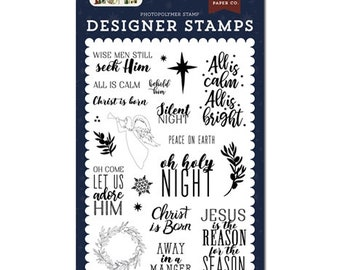 Echo Park Cling Stamps --  Christ is Born Stamp Set  -- NEW -- (#3951)