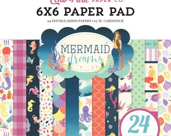 6 x 6 Paper Pad ~  Mermaid Dreams ~ Double sided NEW (#3657)