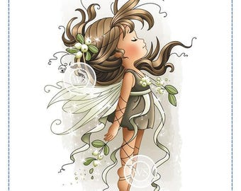 Whimsy Stamps -- Mistletoe Fairy -- NEW -- (#2617)