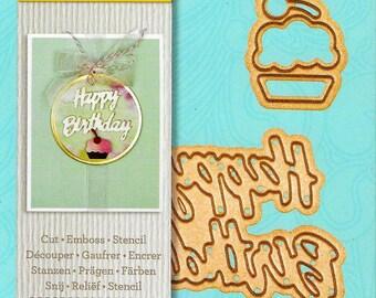 Spellbinders -  Happy Birthday Die set   -  NEW  (#3440)