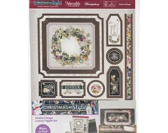 Hunkydory  --  Festive Foliage -- NEW -- (# 3298) Christmas Card Making Kit