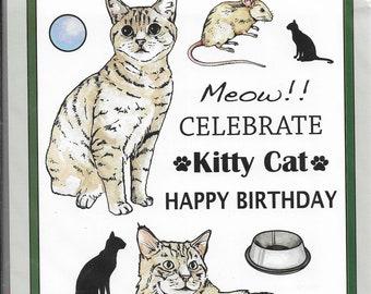 Craft UK Stamps --   Cats 2 Set  -- NEW -- (#3650)