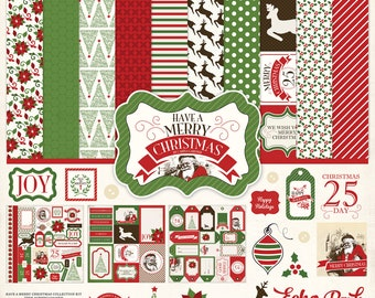 12 x 12 Collection Kit ~ Have A Merry Christmas  ~    NEW  (#4028)
