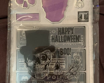 Halloween -  Die, stamp and Embossing Folder set    -  NEW  (#3889)
