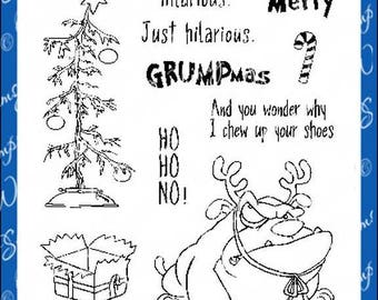Whimsy Stamps -- Grumpy Holidays  -- NEW -- (#2614)