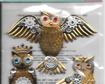 Jolee's Boutique - Steampunk Owls - NEW - (#2988)