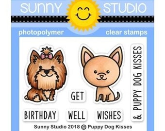 Sunny Studio -- Puppy Dog Kisses  -- NEW -- (#3142)