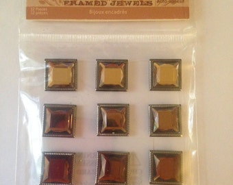 Deja Views --  Timeless Collections  --  Framed Jewels (Browns)   -- NEW  (#763)