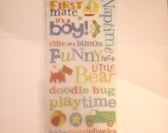 Rub On's  -- K & Company  --  Small Wonders Boy  -- NEW -- Self Adhesive Rub Ons  --    (#1498)