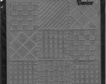 Darice Embossing Folder  --  New  --  Quilt Blocks  --  (#2977)
