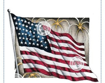Whimsy Stamps --  Flag Works   -- NEW -- (#3644)