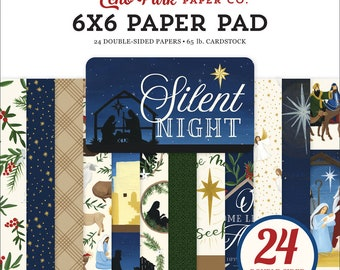 6 x 6 Paper Pad ~  Silent Night  ~ Double sided  NEW  (#3875)