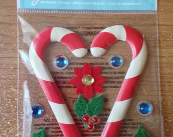 Jolee's Boutique -- Wooden Candy Canes -- NEW -- (#1888) Christmas