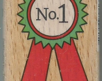 Award Stamp --   NEW  --  Wood Mounted Rubber Stamp --  Studio G/Hampton Arts Brand --   (#1247)