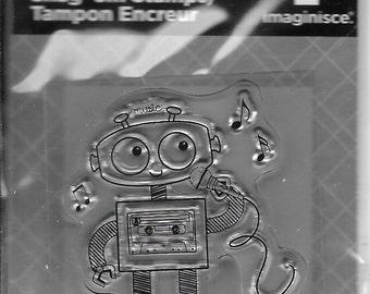Robot Singing Acrylic Stamp  --  NEW  --  (#2019)