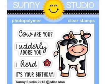 Sunny Studio -- Miss Moo -- NEW -- (#3138)