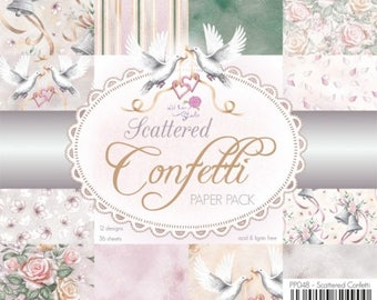 6 x 6  Paper Pad  ~~  Scattered Confetti Paper Pack  ~~   Wild Rose Studio Brand  ~~  NEW  (#2147)
