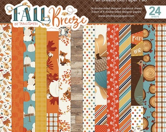 6 x 6 Paper Pad ~ Fall Breeze ~ Double sided  NEW  (#2781)