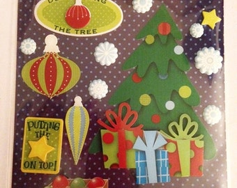 K & C LLO  -- Decorate The Tree --  NEW --  dimensional stickers  (#1890)  Christmas