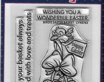 Your Next Stamp --  Birdie Easter Basket  -- NEW -- (#3674)