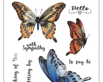 Whimsy Stamps -- Butterflies Fluttering Set -- NEW -- (#3186)