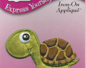 Tulip Brand --  Iron On Applique  --  Turtle  -- NEW  --    (#863)
