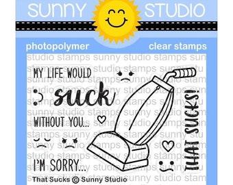 Sunny Studio -- This Sucks Stamps -- NEW -- (#3147)