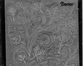 Darice Embossing Folder  --  New  --  Fall Leaves Swirl --  (#2981)