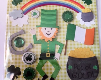 K & Company LLO - St. Patrick's Day- NEW - dimensional stickers (#2997)
